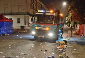Nottinghill Carnival Road Sweeper