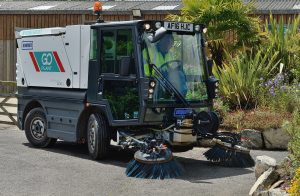 Compact Pedestrian Sweepers Operated