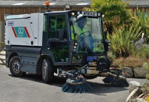 Pedestrian Sweepers Complete Cleaning