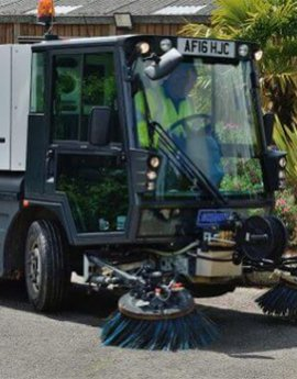Pedestrian sweepers complete clean
